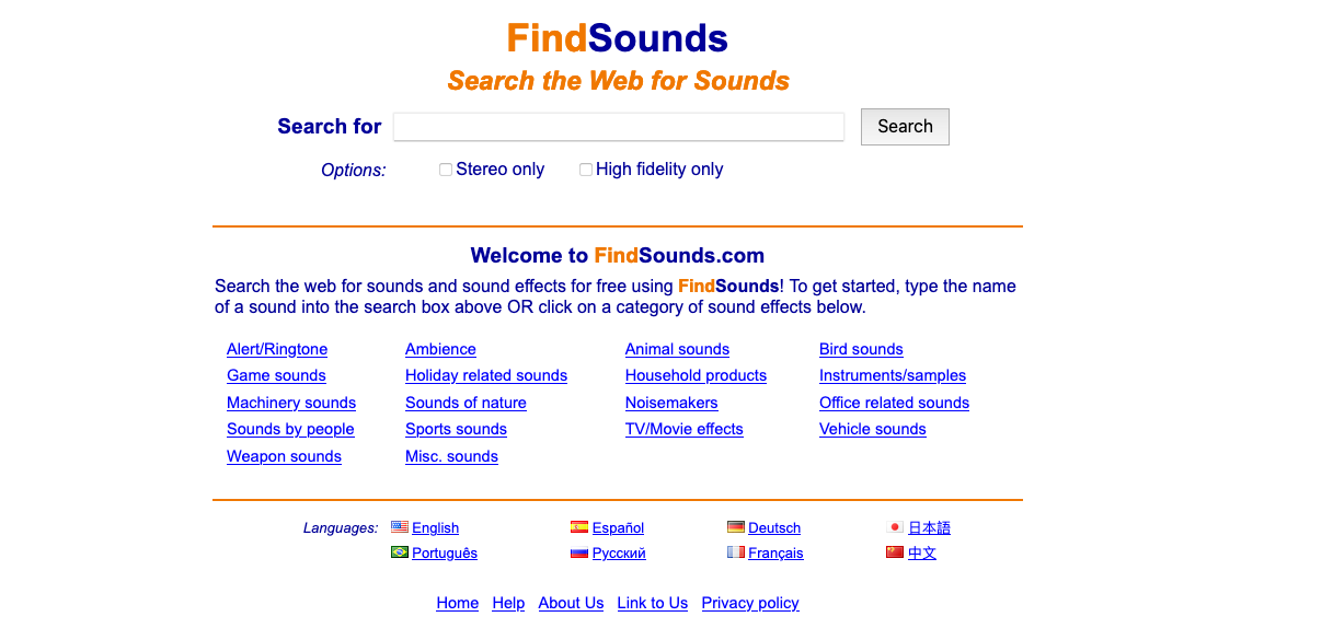 free sound effects music bank