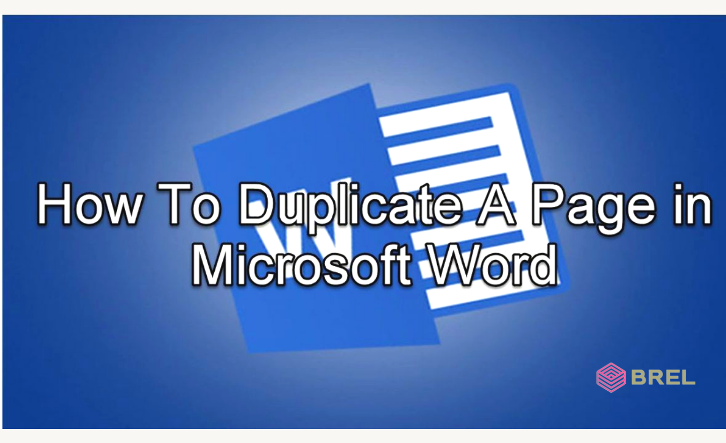 how to duplicate page in word